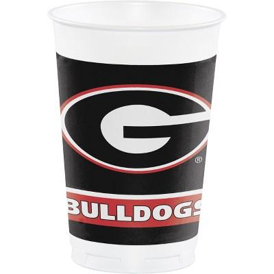 20oz 24ct Georgia Bulldogs Plastic Disposable Cups Red/Black