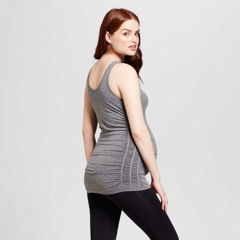 9a379fff861 Maternity Seamless Ruched Tank - Isabel Maternity By Ingrid & Isabel™ :  Target