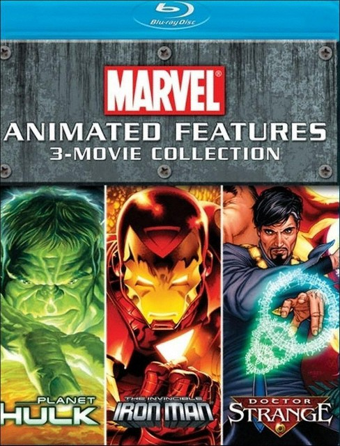 Marvel Animated Features 3-Movie Collection (3 Discs) (Blu-ray) - image 1 of 1