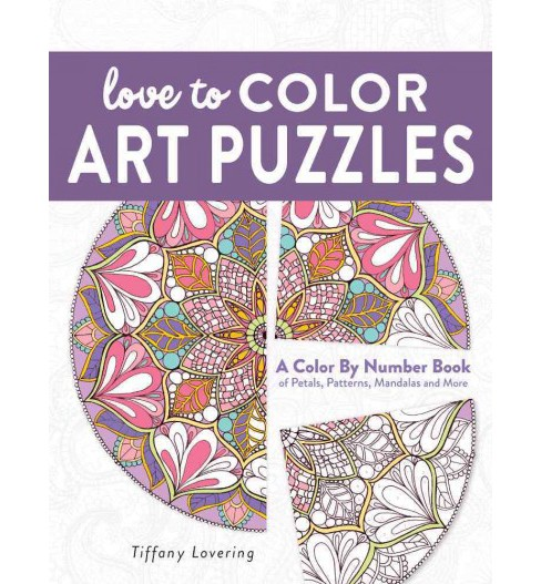 Love to Color Art Puzzles : A Color by Number Book of Petals, Patterns, Mandalas and More (Paperback) - image 1 of 1