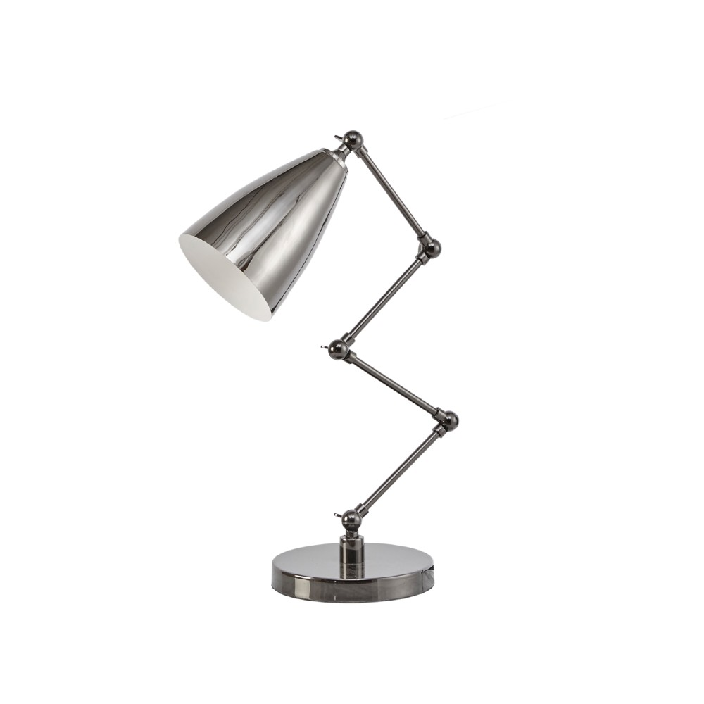 "Image of ""12.8"""" x 7.2"""" Bryce Table Lamp (Includes Energy Efficient Light Bulb) Black"""