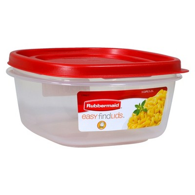 Rubbermaid 5 Cup Food Storage Container with Easy Find Lid