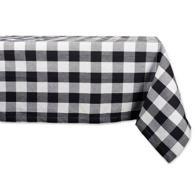 120 x60  Buffalo Check Tablecloth Black/White- Design Imports