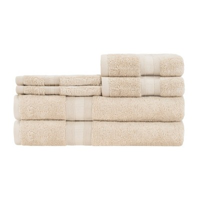 6pc Airplush Bath Towel Set Beige - Caro Home