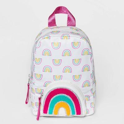 Girls' Rainbow Printed Mini with Embellished Pocket Backpack - Cat & Jack™
