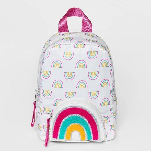 Girls' Rainbow Printed Mini with Embellished Pocket Backpack - Cat & Jack™ - image 1 of 2