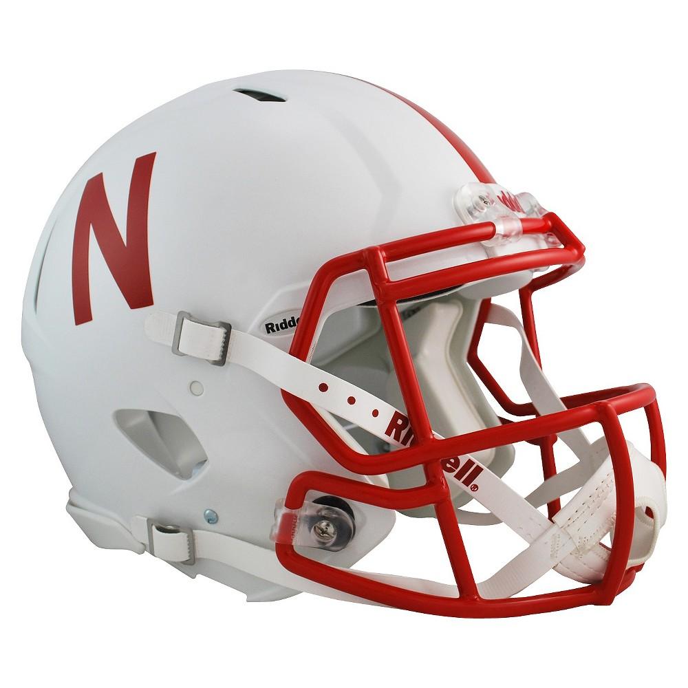 Nebraska Cornhuskers Riddell Speed Authentic Helmet - White