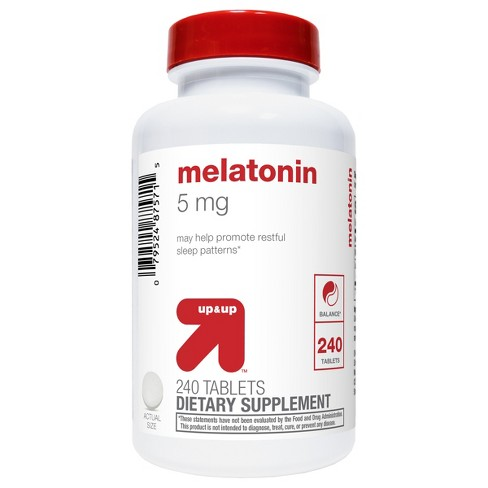 Melatonin 5mg Supplement Tablets - Up&Up™ - image 1 of 3