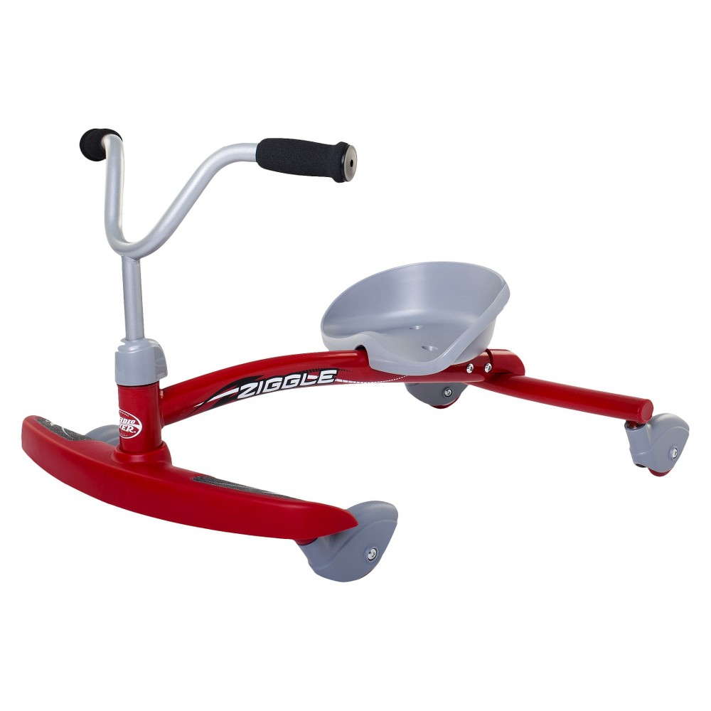 Radio Flyer Ziggle - Red, Pedal and Push Riding Toys
