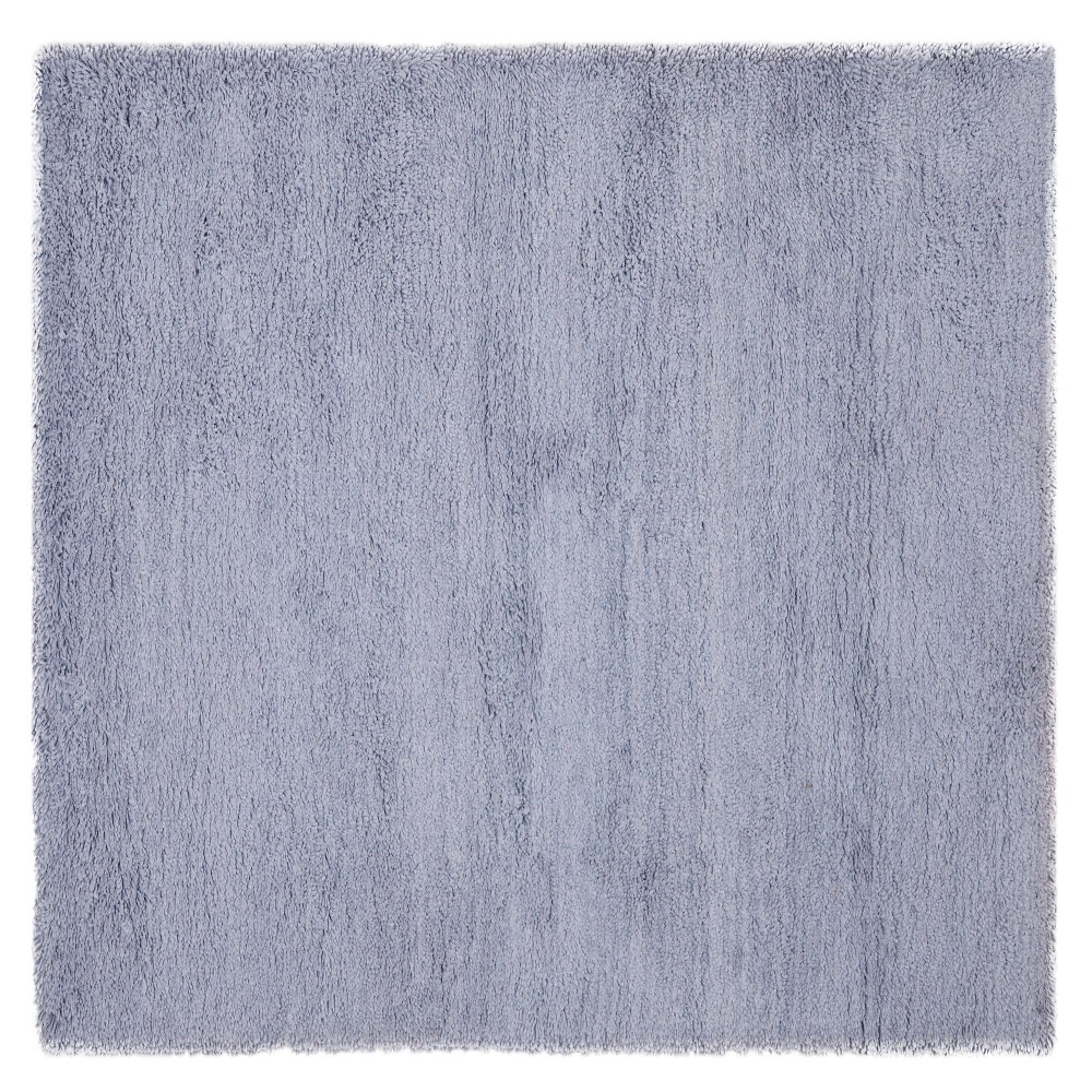 Lilac (Purple) Solid Shag and Flokati Tufted Square Area Rug 6'X6' - Safavieh