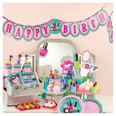 Sparkle Spa Party Supplies Collection Target Rh Com Printable Decorations