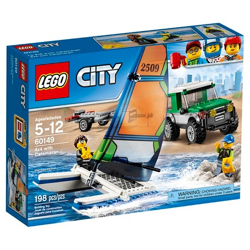 LEGO® City Great Vehicles 4x4 with Catamaran 60149 - image 1 of 14