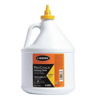 KESON 105Y Marking Chalk Refill,Yellow,5 Lb