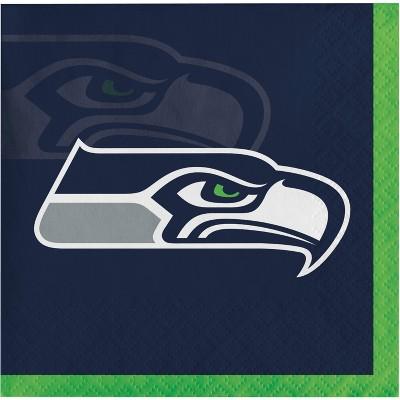 48ct Seattle Seahawks Football Beverage Napkins