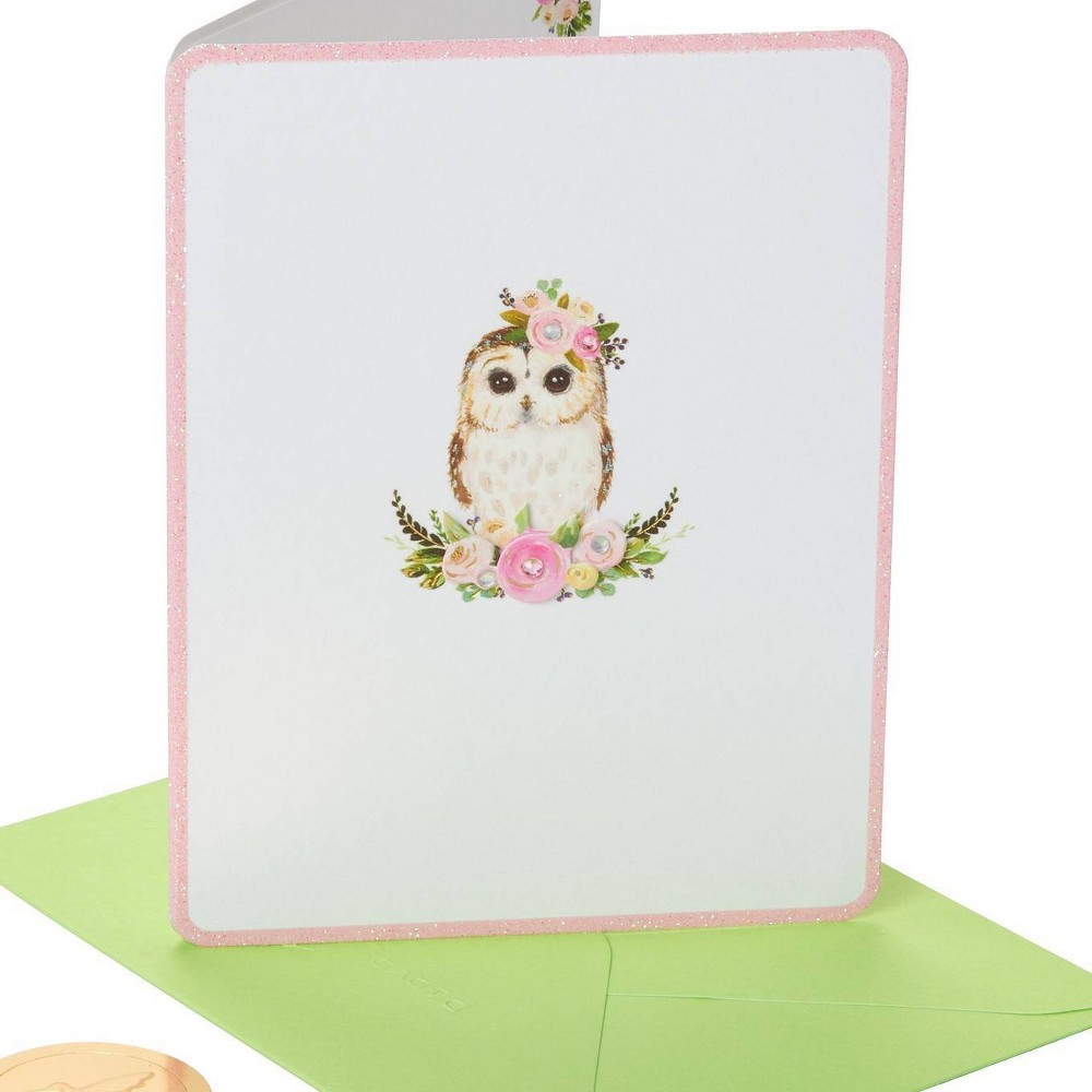 Owl With Flower Crown Print Card Papyrus