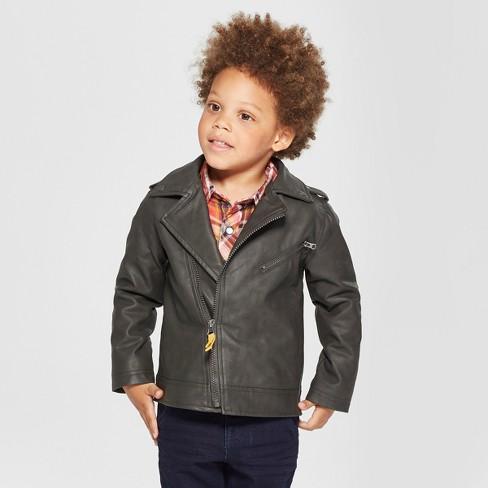 fd5538d8 Toddler Boys' Genuine Kids® from OshKosh Moto Jacket Asymmetrical Zip -  Black