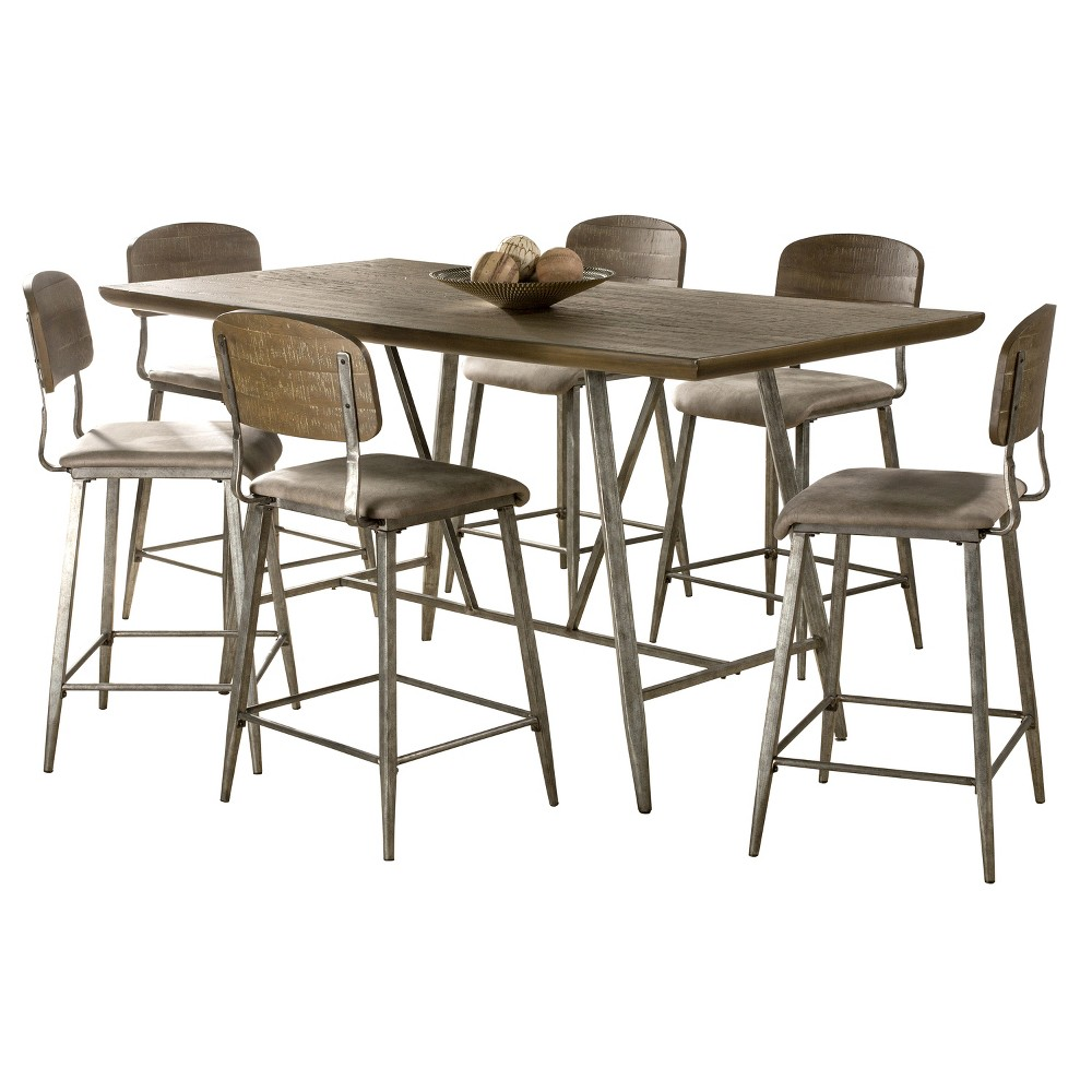 7pc Adams Counter Height Dining Set Brown/Antique Steel - Hillsdale Furniture 7pc Adams Counter Height Dining Set Brown/Antique Steel - Hillsdale Furniture Age Group: Adult.