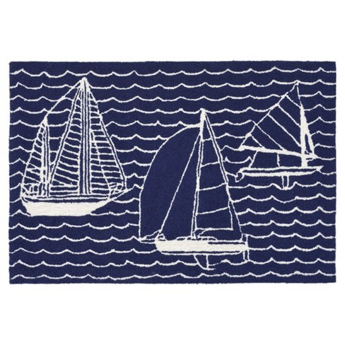Navy Boat Tufted Accent Rug 20 Quot X30 Quot Liora Manne Target