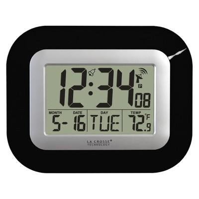 Atomic Digital Wall Clock Black - La Crosse Technology®