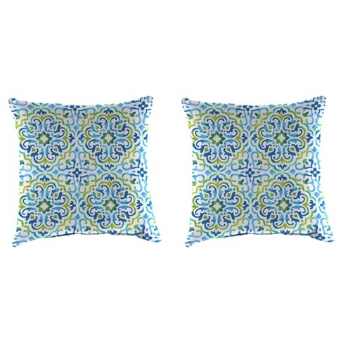 Outdoor Set Of 2 Accessory Toss Pillows In ReIna Capri - Jordan Manufacturing - image 1 of 2