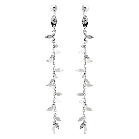 1/4 CT. T.W. Round-cut CZ Heart Twist Dangle Bezel Set Earrings in Sterling Silver - Silver - image 1 of 2