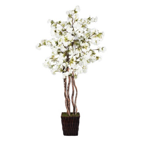 Artificial Cherry Blossom Deluxe (6') White - Vickerman - image 1 of 1