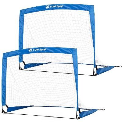 E-Jet Sports Portable 4' Fiberglass Soccer Goals - Set of 2