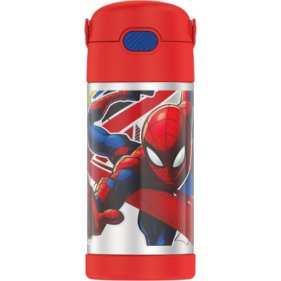 Thermos Spider-Man 12oz FUNtainer Water Bottle with Bail Handle - Red