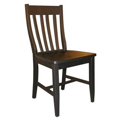 Schoolhouse Dining Chair Wood/Black (Set of 2) - International Concept