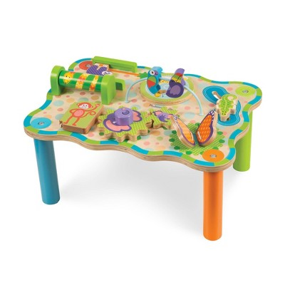 Melissa & Doug First Play Childrens Jungle Wooden Activity Table for Toddlers