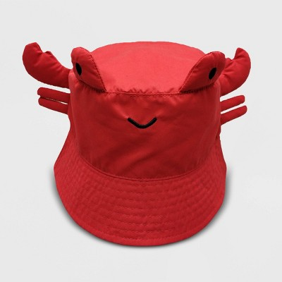 Baby Crab Pattern Bucket Hat - Cat & Jack™ Red 12-24M
