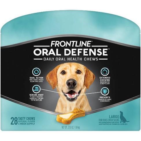 Frontline Oral Defense Dog Chews - L - 28ct - image 1 of 4