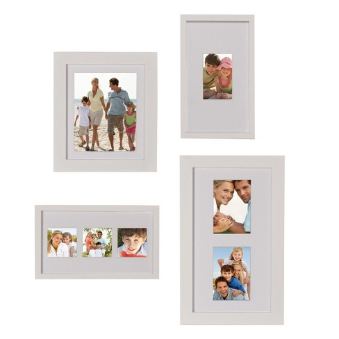 "Gallery Flat Museum Picture Frame White 12.5""x20.5"" 4pk - DesignOvation - image 1 of 5"