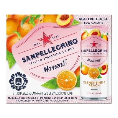 Sanpellegrino Momenti Clementine & Peach - 6pk/11.15 fl oz Cans