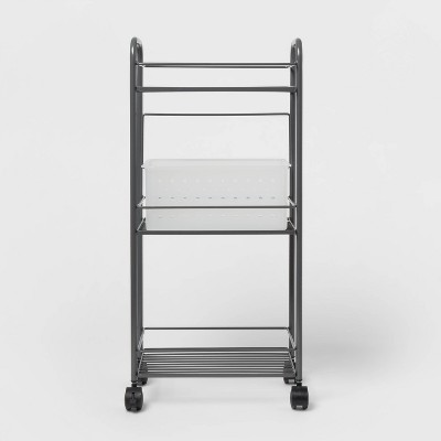 Metal Shower Caddy Tower with Removable Plastic Caddy Gray - Room Essentials™