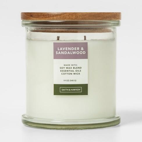 Large Lidded Glass Jar Candle Lavender & Sandalwood - Smith & Hawken™ - image 1 of 2