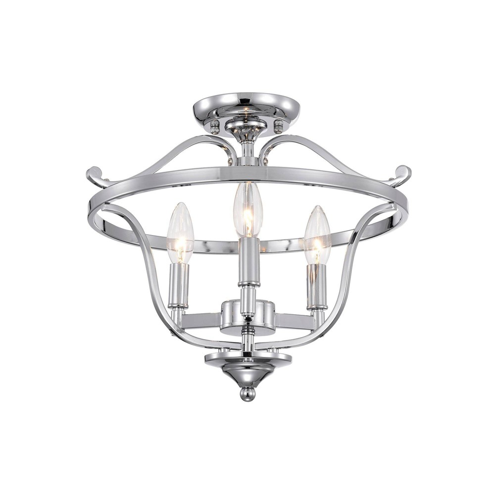 15 34 X 15 34 X 13 34 Karl Semi Flush Mount Ceiling Light Silver Warehouse Of Tiffany