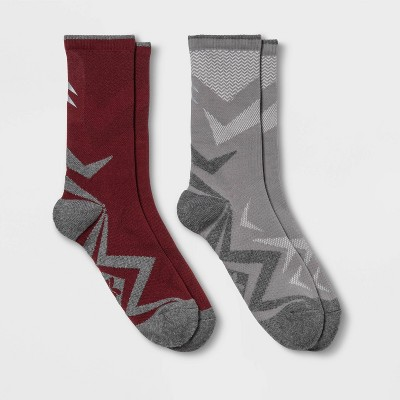 Women's Lightweight Cushioned Sport Wool Blend 2pk Crew Socks - All in Motion™ 4-10