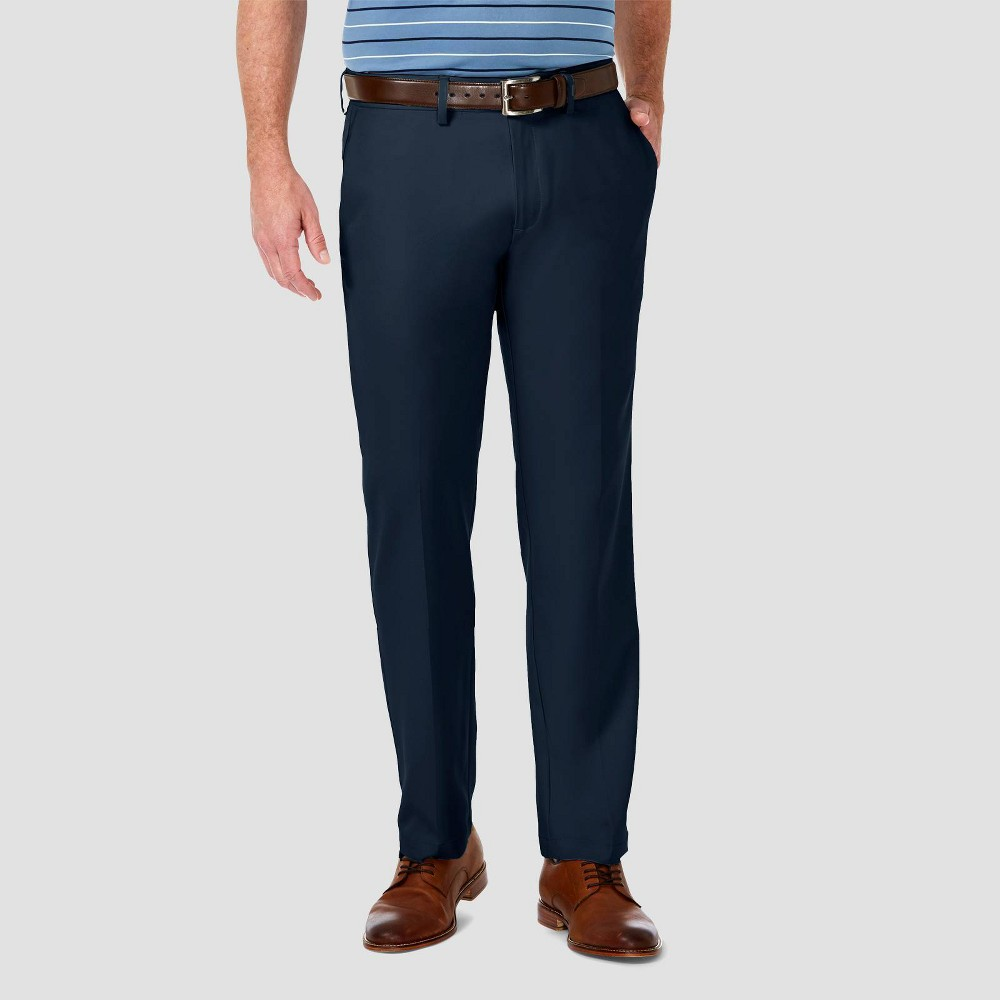 Coupons Haggar Men's Cool 18 PRO Straight Fit Flat Front Casual Pants -