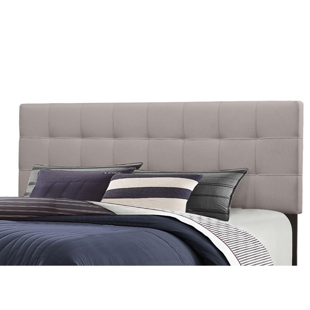 Full/Queen Delaney Headboard Frame Included Stone (Grey) - Hillsdale Furniture