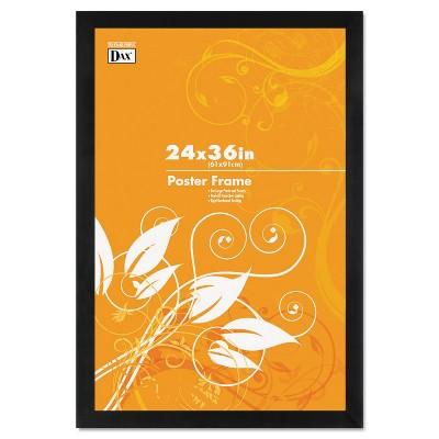 Dax Black Solid Wood Poster Frames w/Plastic Window Wide Profile 24 x 36 2863U2X