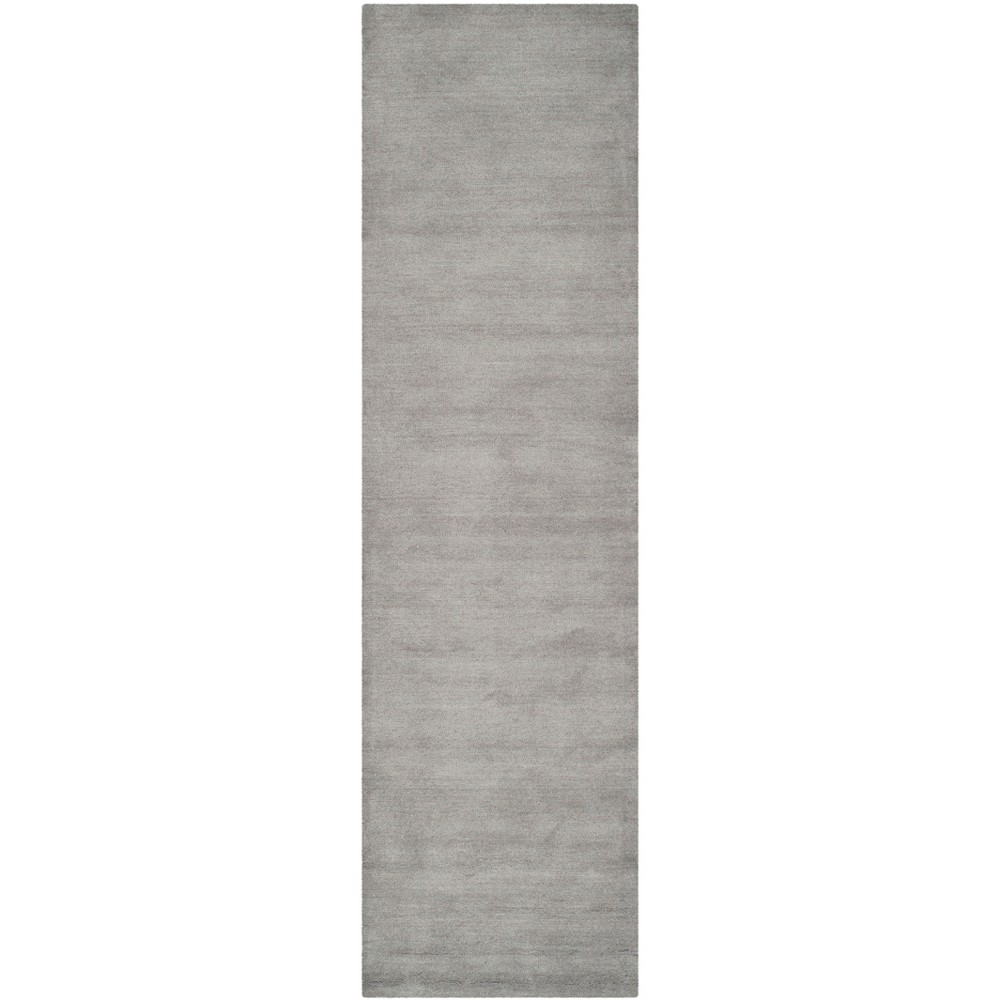 Tufted Solid Area Rug Gray