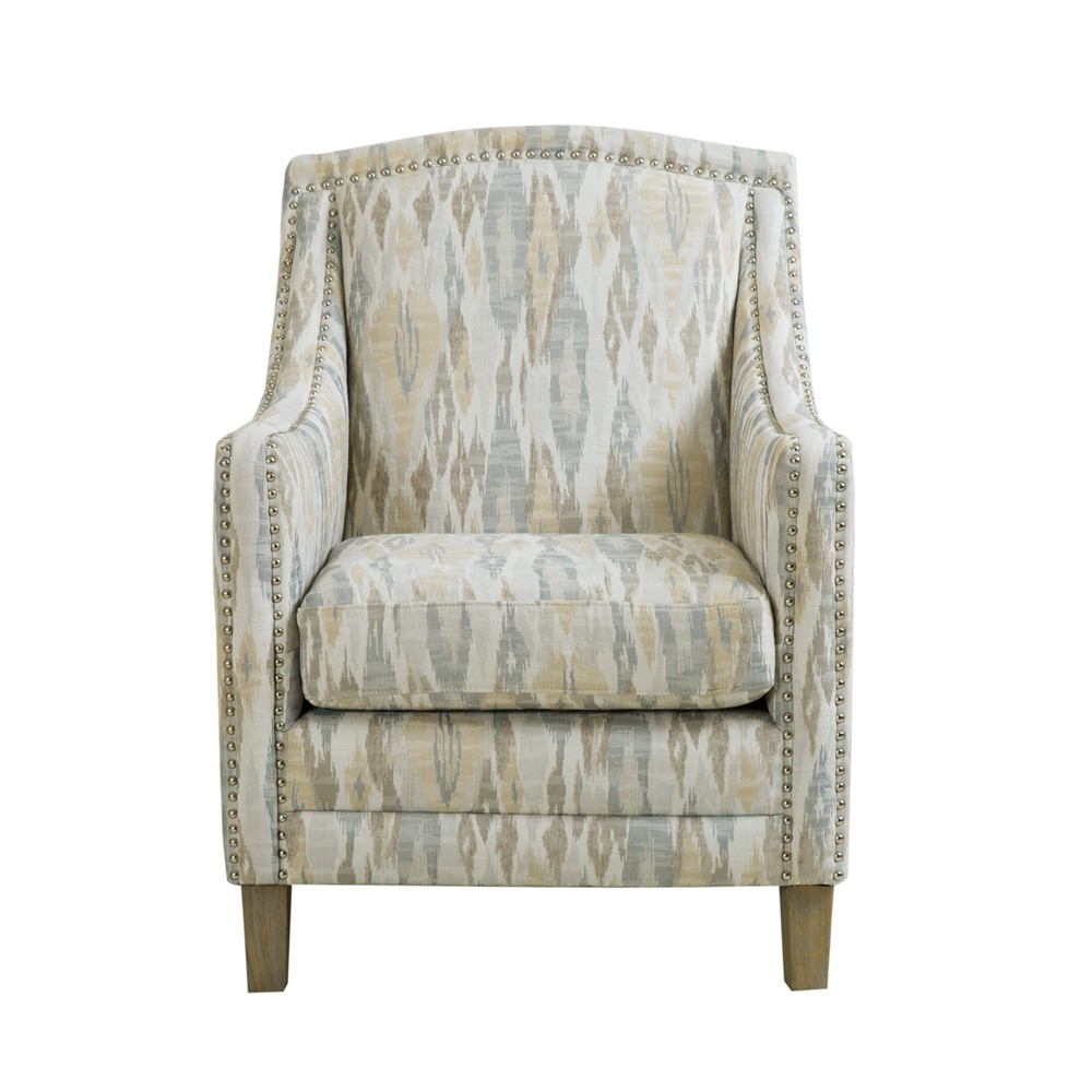 Sira Nailhead Club Chair Biege, Multi-Colored