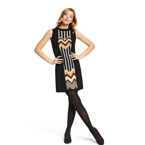 Women's Zig Zag Stripes Patchwork Sleeveless Crewneck Sweater Dress - Missoni for Target Black/Brown - image 1 of 5
