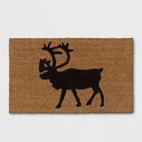 "Black Caribou Doormat 1'6""X2'6"" - Threshold™ - image 1 of 3"