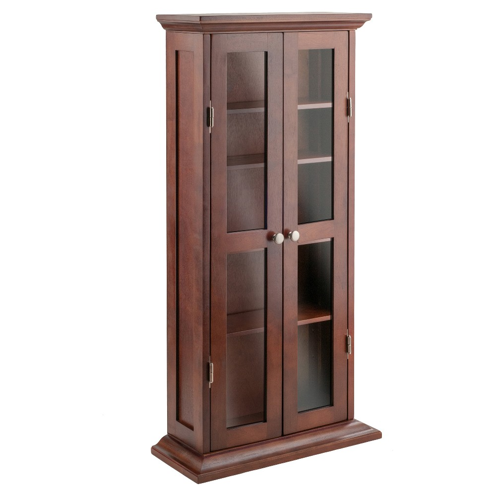 Dvd-Cd Cabinet - Antique Walnut (Brown) - Winsome