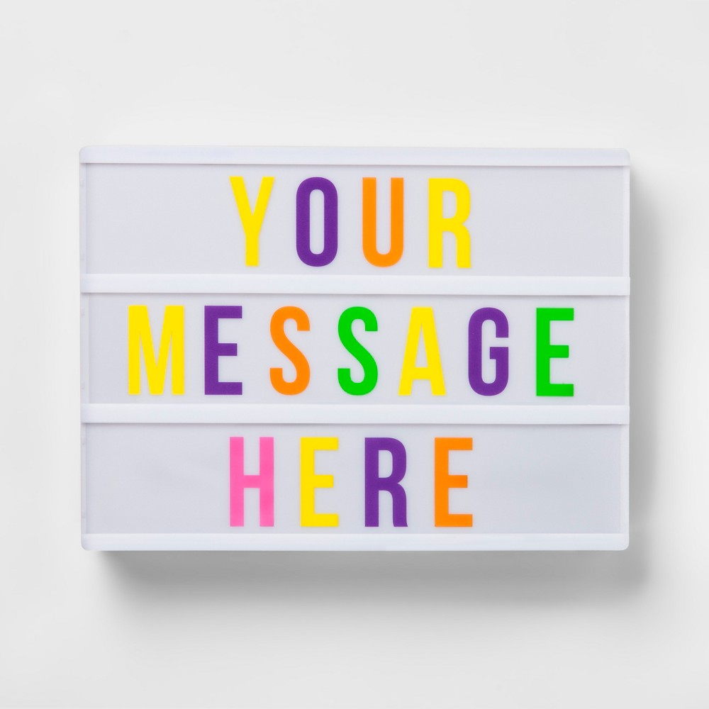 Your Message Here Light Box - Pillowfort, White