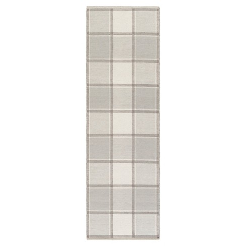 "Light Gray Abstract Woven Runner - (2'6""X8' Runner) - Surya - image 1 of 3"