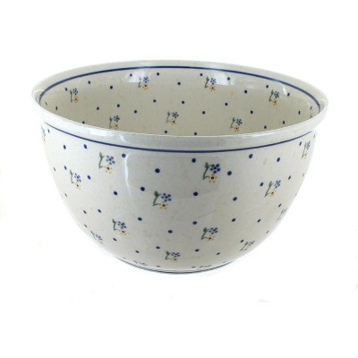 Blue Rose Polish Pottery Country Meadow Large Mixing Bowl