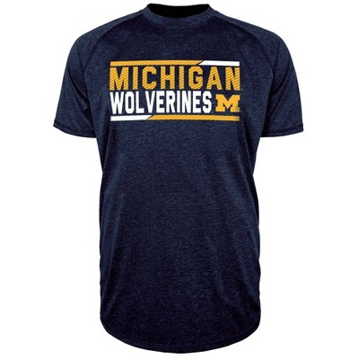 NCAA Michigan Wolverines Men's Short Sleeve Performance T-Shirt